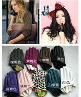 Ds gloves hiphop gloves pujazz jazz dance leather female singer gloves