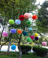 Free Shipping! 30pcs/lot 6''(15CM) mixed Colors Paper Pom poms For Weddings