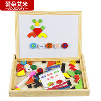 Aimy child three-in magnetic building blocks writing board oppssed whiteboard puzzle