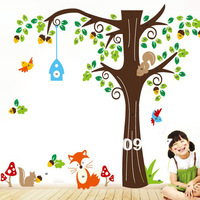 Free Shipping Forest Animals Removable Vinyl Wall Decal Stickers Kid Room Art Mural Home Decor WBS0149