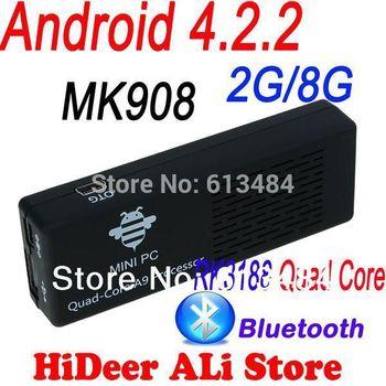 MK908 Quad Core Android TV Box / Mini PC RK3188 2GB DDR3+8GB Build in Bluetooth4.0 /WiFi 1080P US/EU/UK Plug