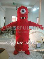 High quality Yo Gabba Gabba Mascot Costume Muno mascotta costume Free Shipping