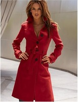FREE SHIPPING 2013 new women sexy wool coat medium-long design wool jacket fashion casual elegant career coat trench