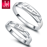 Jpf pure silver lovers jewelry pure silver lovers ring pure silver ring