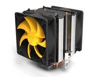 Yellow sea plus cpu heatsink double fan double catheter