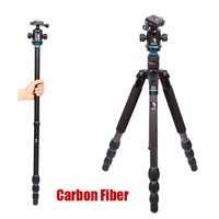 Carbon Fiber Tripod With Head Set  For Cannon Nikon Sony Digital SLR Camera / Professional Portable Tripod Suit / Max Load 12Kg