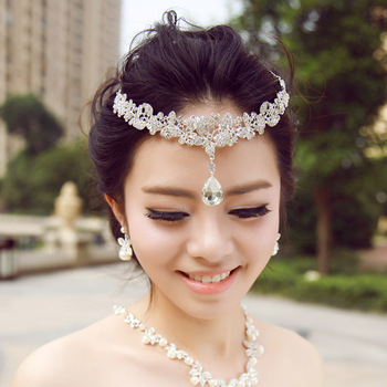 The bride hair accessory rhinestone eyebrows drop hair accessory the bride wedding dress accessories