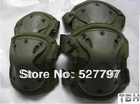 Latest green Tactical X-tak Pad, knee pads & elbow pads set,EVA,TPU,1000Dnylon