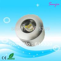 Single Cree 1W Round LED Cabinet Light/LED Puck Light, DC12-24V Input 1W LED Down Light 70LM/W 100pcs/lot DHL Free Shipping