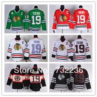 Free Shipping Chicago Blackhawks #19 Jonathan Toews American Men's Ice Hockey Jersey Size:M-3XL