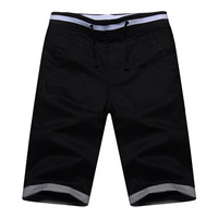 Summer knee-length pants male casual capris male thin 100% cotton beach pants shorts male