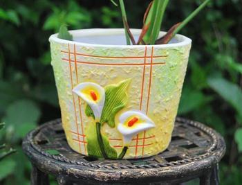 Quality sets of pots multicolor ceramic flower pot vase decoration flower mini meat small bonsai 16