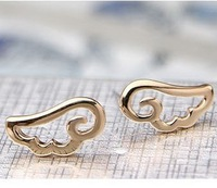 2013 Fashion bijoux jewelry . Angel wings stud earrings.J059