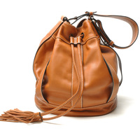 New 2013 women fashion genuine leather drawstring bucket bags,  female designer shoulder fur handbags,the noe bb messenger bag