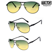 New 2013 Polarized Sunglasses  Style Unisex Day Night Double Use Block Glasses Green Fade Yellow Polarized Driver  Sunglasses