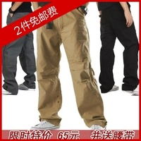 Outdoor summer thin trousers men's clothing male casual pants male loose plus size overalls male long trousers