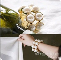 2013 fashion jewelry bijoux,bracelets for women, Double pearl bangle.J315