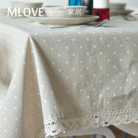 White dot mlove laciness linen table cloth fabric table cloth dining table cloth tablecloth small fresh
