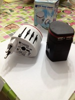 world travel adapter with USB  covers morn than 150 countries