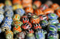 Handmade accessories colored glaze beads multicolour beads oval barrel beads old fozhu 108 rosary diy accessories