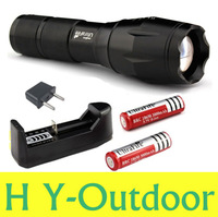 UltraFire E17 CREE XM-L T6 2000Lumens 7 modes High Power Torch Zoomable LED Flashlight (2*18650 battery + charger))