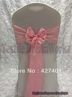 New products in August-Hot Sale Pink Satin Sash For Wedding Event & Party Decoration