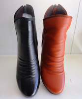 Hantec leather 2012 winter genuine leather female boots elevator boots short
