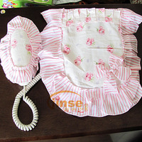 Romantic 100% cotton fabric telephone cover telephone sets