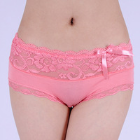 Quality modal women's lace panties bamboo fibre briefs women's antibiotic panties