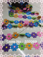Direct factory wholesale Popular hair accessories diy Colored Jewelry Lace Flower Embroidery Trimmings