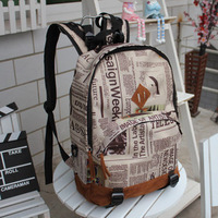 vintage pattern personality casual fashion backpack bag lovers school bag school backpack