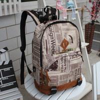 vintage pattern personality casual fashion backpack bag lovers school bag school backpack