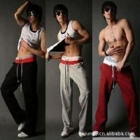 Free shipping2013 New fashion Men's Long Sexy sport parts /Middle waist,Trousers Mix order Gray, Red,Black S,M,L,XL,XXL Loose