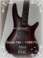 Best China - 4 strings bass electric wooden bass guitar in Dark brown free shipping100% Excellent Quality