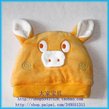 For dec  imals point cartoon graphic patterns cap shote cap small cat cap baby hat