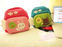 free shipping good quality  LOVELY rabbit bear child small school bag backpack