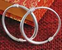 Baby silver bracelet 999 pure silver female baby parent-child silver bracelet national trend 999 fine silver bangle