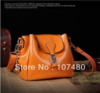 2013 newest genuine leather women's handbag ,Casual fashion candy color brand designer handbag woman handbag shoulder bag