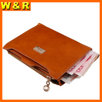 Designer New Brand Korean organizer Wallets for Women High quality wax leather short Purse Promotion Free shipping