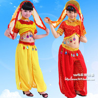 Child indian  dance costume leotard female child xinjiang