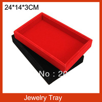 Free Shipping(3pcs/lot) High Quality Flapless Wood Jewelry Tray Earrings Display Plate Ring Necklace Accessories Display