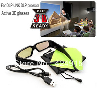 New Generation 3D DLP Link Shutter Active Glasses for 3D DLP projector (3D Ready)