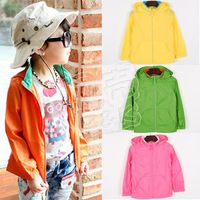wholesale 5pcs/lot - autumn colorful boys clothing girls clothing baby child with a hood outerwear wt-0633