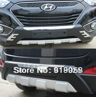 Free shipping 2010-2012 Hyundai ix35 High quality plastic ABS Chrome Front+Rear bumper cover trim