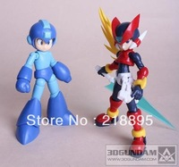 Free shipping Megaman Rockman & Zero 2pcs (1/10 Scale Plastic model)   Action Figure;15cm*2 with box