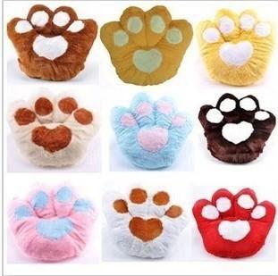 Cartoon bear paw plush back office car cushion pillow cushion creativity back against the pillows free shipping(China (Mainland))