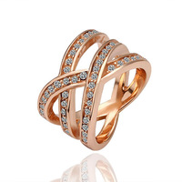 18K gold plated ring fashion ring Genuine Austrian crystals italina ring,Nickle free antiallergic factory prices aqj xup GPR001