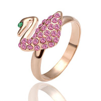 18K gold plated ring fashion ring Genuine Austrian crystals italina ring,Nickle free antiallergic factory prices xbd qfr GPR003