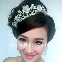 Free shipping.Factory price~Wholesale flower Nice silver Crown handmade headband .fashion Crown.Wedding jewelry