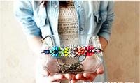 Hot Deals Luxury Limited Shourouk bag rainbow colored gem transparent PVC women handbags single shourouk shoulder bag